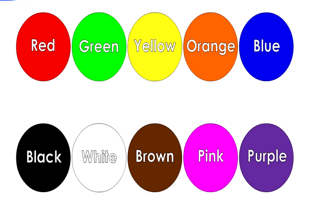 Học tiếng Anh qua màu sắc