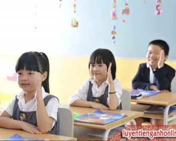 Học tiếng Anh cho trẻ em lớp 1